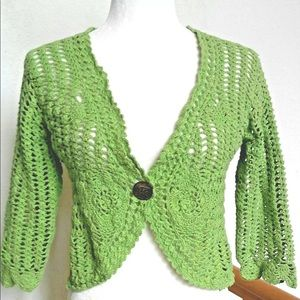 ib Diffusion Green Cardigan for sale